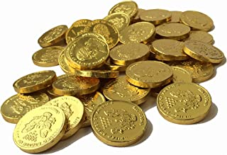 Large Milk Chocolate Gold Coins - 12 Ounce (3/4 LB) (Approximately 45 Pieces)