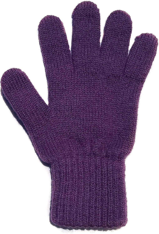 Winter Gloves for Women Men Alpaca Wool Warm Winter Running Gloves Black Hunter Orange Purple Green Blue (Small, Purple)