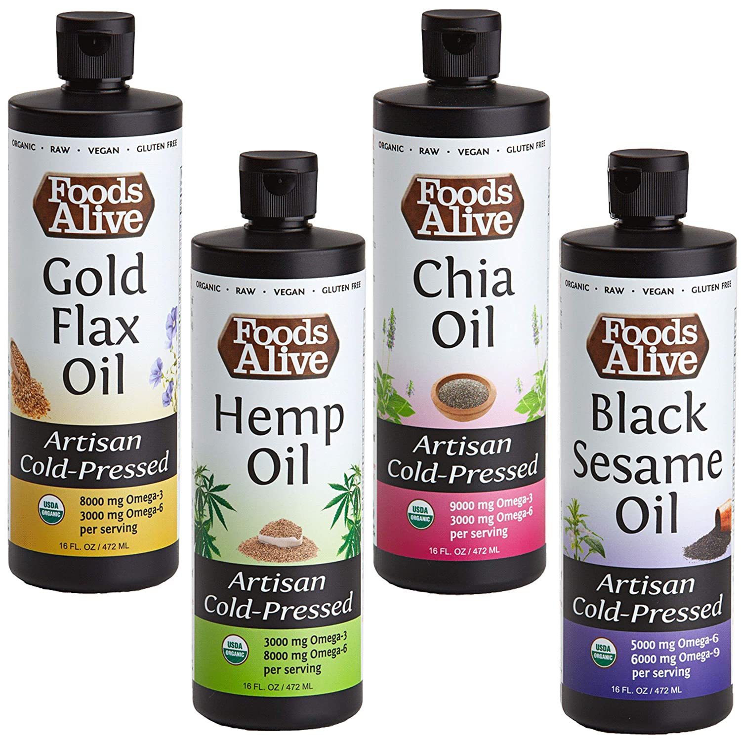 Foods Alive Organic Omega Power Blend Pressed Artisan Oil New sales Ranking TOP11 Cold