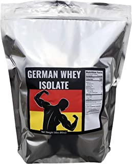 German Whey Protein Isolate - Grass Fed Whey Protein Isolate, Unflavored, No Soy, Non GMO, Made by Strict German Manufacturing - Imported Directly from Germany