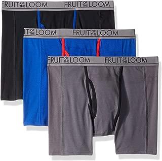 Fruit of the Loom Mens UM3P76C 3pk Ultra Flex Boxer Brief Boxer Briefs - Multi