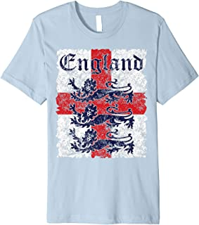 England Soccer Jersey Style Team National Flag Rugby Gift Premium T-Shirt