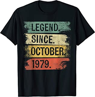 Legend Since October 1979 40 Year Old 40th Birthday Gifts T-Shirt