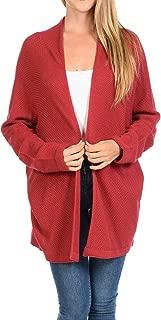 Women's Casual Open Front Loose Drape Knit Cardigan Sweater