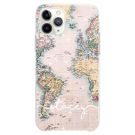 Amazon.com: iPhone 12/12 Pro World Map Design for your Travel ...