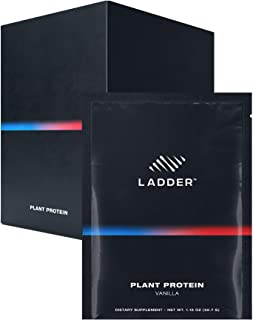LADDER Sport 100% Plant-Based Protein Powder - 21g Protein, 4.5g BCAAs, 9g EAAs, 2 Billion CFU Probiotics, No Artificial Sweeteners, 15 On-The-Go Packets, NSF Certified for Sport (Vanilla)