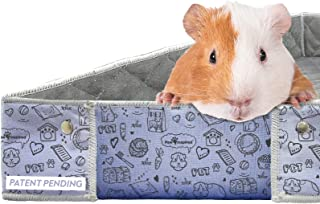 Paw Inspired Critter Box   Washable Guinea Pig Cage Liners with Raised Sides   Super Absorbent Fleece Bedding for Guinea P...