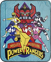 Power Rangers Mighty Morphin Couvre-lit One Size noir
