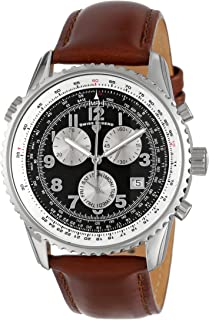 Men's 30721-01-BRW Skyline Chronograph Brown Dial Brown Leather Band Watch