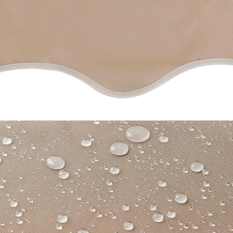 Resistente a los Rayos UV Sin Taladrar MVPower Toldo Articulado con Armaz/ón Azul y Blanco 200 x 120cm de Metal y Poli/éster Terraza Balc/ón Toldo Altura Ajustable con Manivela