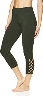 Women's Plus Size Capri Yoga Pants - Performance Spandex Compression Gym Leggings