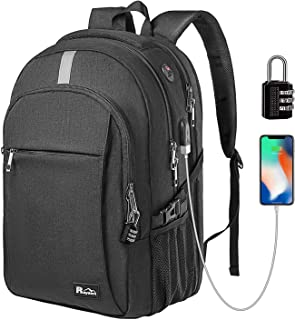 e4f2eea62 Business Laptop Backpack 15.6 Inch, TSA Friendly Durable Anti Theft Travel  Backpack with USB Charging