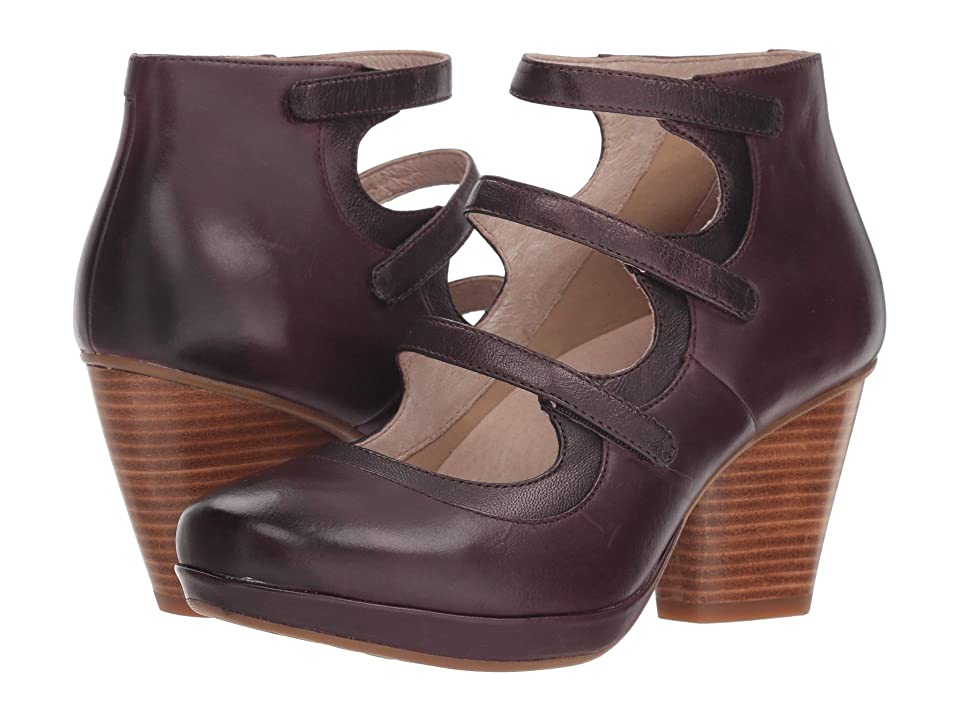 Dansko Marlene (Wine Burnished Calf) Women