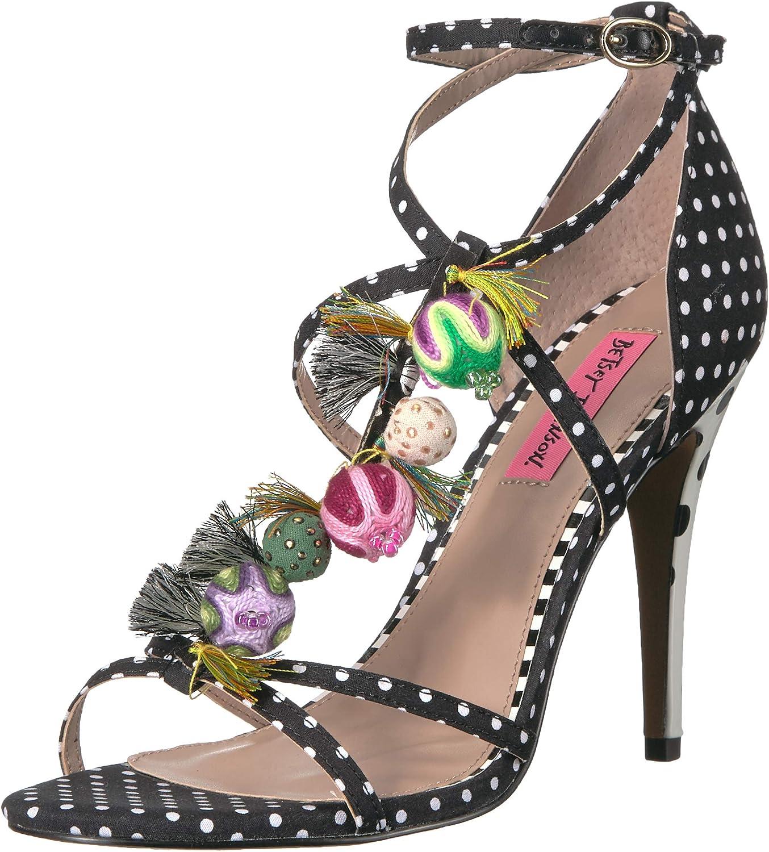 Betsey Johnson Womens Rudey Heeled Sandal