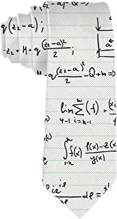 SARA NELL Men's Classic Woven Business Tie Silk Necktie Math Teacher Pattern With Mathematical Formulas Neck Ties