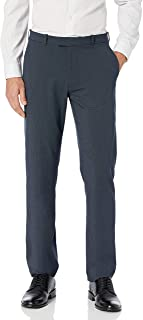 Haggar Men's Premium No-Iron Expandable-Waist Plain-Front Pant
