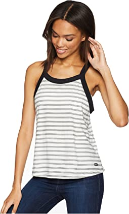 Label Striped Tank Top