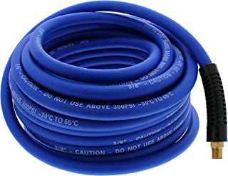 ABN Air Compressor Hose – 50ft Long, 3/8 Air Hose All Weather-Proof Lightweight Hybrid 1/4in MNPT Ends, 300 PSI