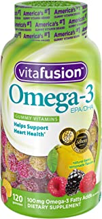 Vitafusion Omega 3 Gummies, 120 Count (Packaging May Vary)