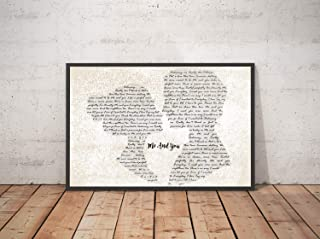 Mattata Decor Gift Me and You Song Lyrics Landscape Poster Print (18