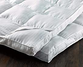 Deyarco Soft Comfort Polyester Stripe Mattress Topper Queen 160 x 200 cm with piping