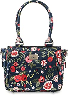 JuJuBe Limited Edition Be Sassy Structured Handbag Diaper Bag, Midnight Posy
