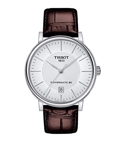 Tissot T-Classic Carson Premium Powermatic 80 T1224071603100 (Silver) Watches