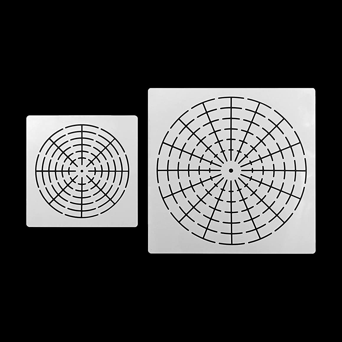 2 Pieces Mandala Stencils Template Hollow Auxiliary Line Drawing Template S8/L16 Segment
