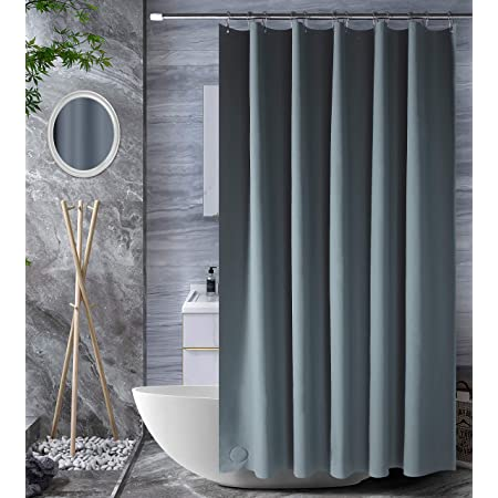 """Bagail Grey Shower Curtain, 72""""x72"""" PEVA Heavy Duty Plastic Shower Curtain with 3 Magnets for Shower Stall, Bathtubs, Waterproof, No Smell"""