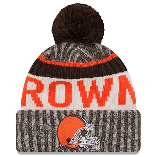 low priced 4d207 92648 New Era Cleveland Browns 2017 NFL Sideline On Field Sport Knit Hat - Brown