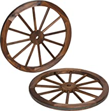 Best small wooden wagon wheels Reviews