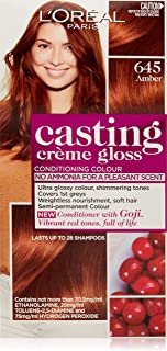L'Oréal Paris Casting Crème Gloss Semi-Permanent  Hair Colour - 645 Amber (Ammonia Free)