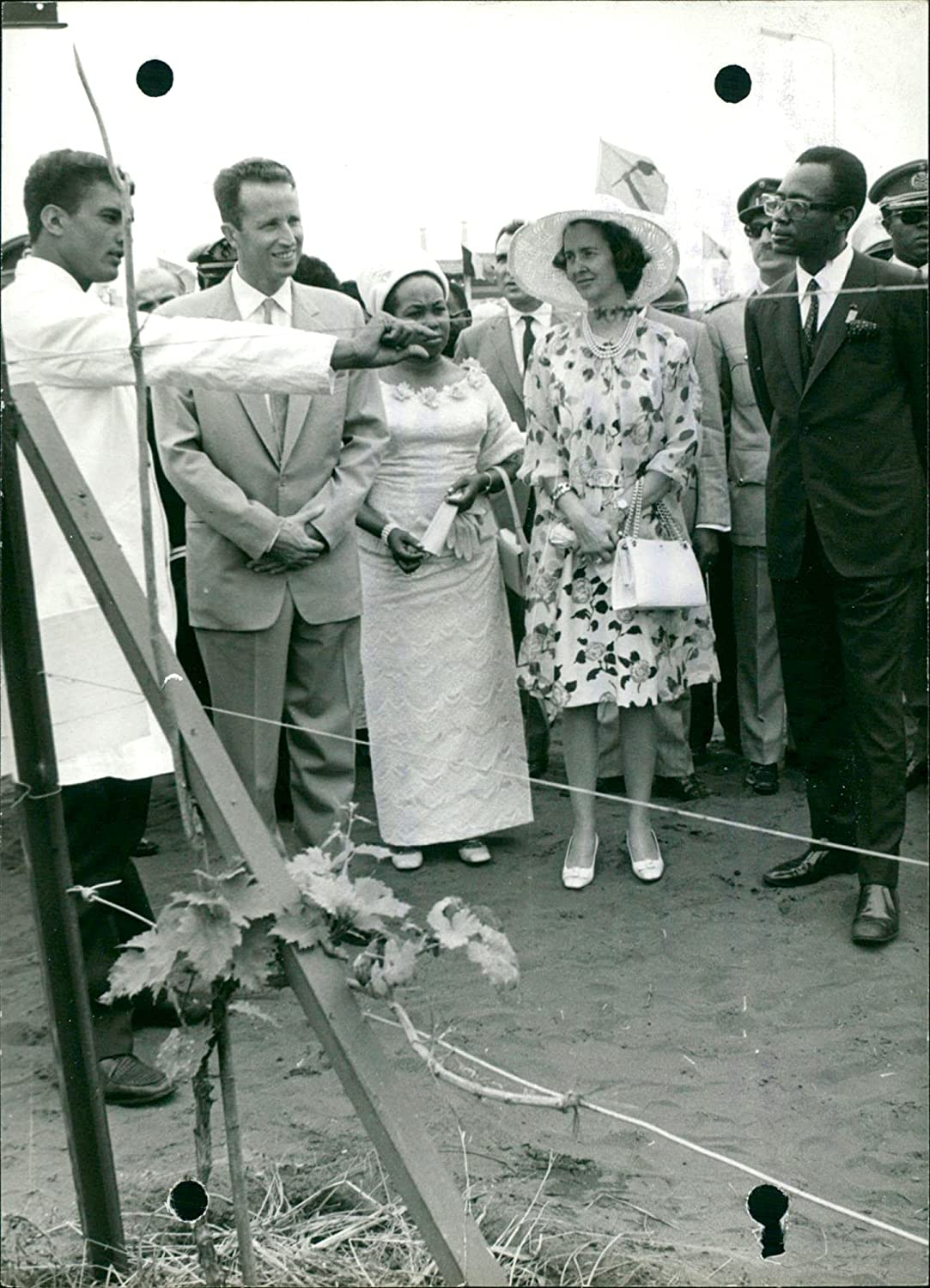 King Baudouin Queen Fabiola with It is very popular Mail order cheap Mr. - Mrs. Seko Mobutu Sese