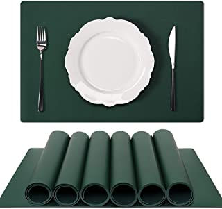 GOYSLER Silicone Placemats, Heat Resistant Table Mats,Waterproof Table Cover Protector,Non-Slip Table Pad, Easy Clean Kitc...