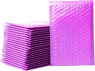 """Empire Mailers - 50 (#000) 4"""" x 8"""" Purple Poly Bubble Mailers Self Seal Padded Shipping Envelopes - Total 50 Envelopes"""