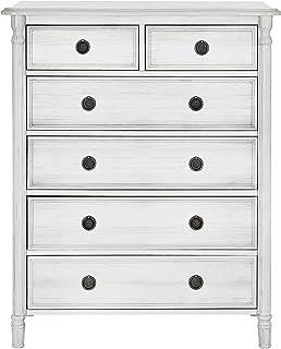 Evolur Julienne 6 Dressers Chest, Antique Grey Mist