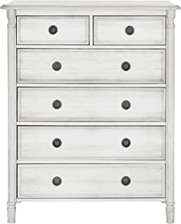 Evolur Julienne 6 Dressers Chest, Antique Grey Mist