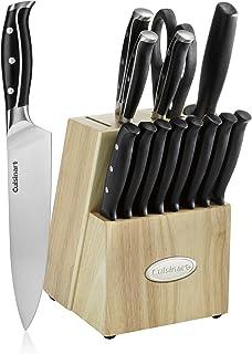 Cuisinart C77TRN-8CF Nitrogen Knife Collection Triple Rivet, Silver 15-Piece Knife Block Set Black C77TRN-15P