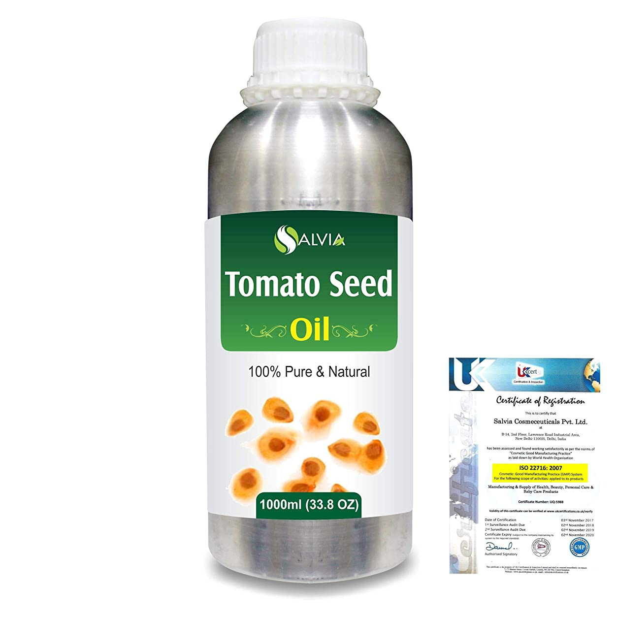 小麦小屋反対したTomato Seed (Lycopersicon Esculentum) 100% Pure Natural Carrier Oil 1000ml/33.8fl.oz.