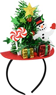 Forum Novelties Mini Christmas Tree with Snowman and Presents Headband