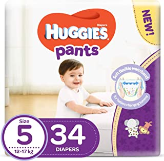 Huggies Pants Diapers, Size 5, 12-17 kg, 34 Count (KC707)
