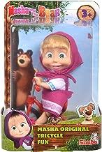 SIMBA Dickie 109302059 Masha Doll on Tricycle, Multi