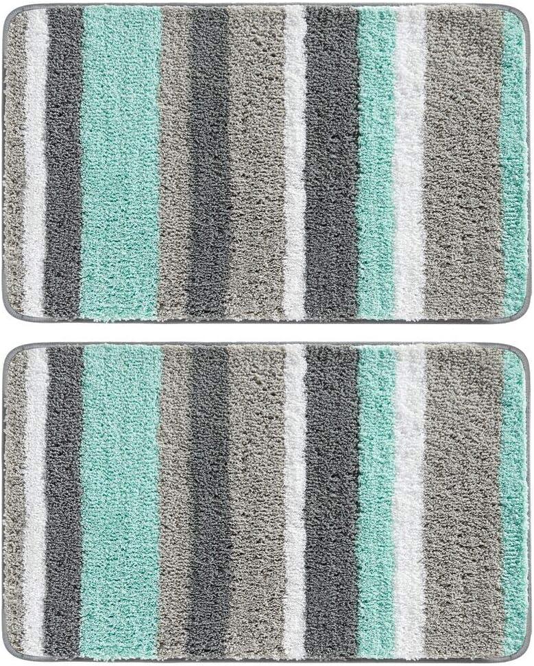 mDesign Washington Mall Soft Microfiber Polyester Non-Slip Award Spa Plush Water Mat