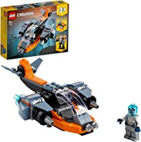 LEGO 31111 Creator 3 in 1 Cyber Drone Building Set with Cyber Mech and Scooter, Space Toys for Kids 6 Years Old