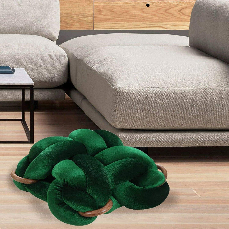 Detweiler Knot Braid Pouf Furniture Decor