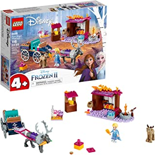 LEGO Disney Frozen II Elsa's Wagon Carriage Adventure 41166 Building Kit with Elsa & Sven Toy Figure (116 Pieces)