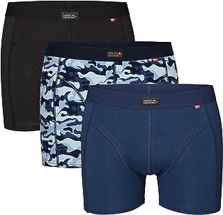 Tuopuda Boxer Uomo Cotone Mutande Stampa Intimo Uomo Boxer Pacco da 4 Pantaloncini Confortevole Boxershorts Underwear