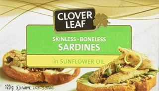 Clover Leaf Skinless Boneless Sardines in Sunflower Oil, 12 Count