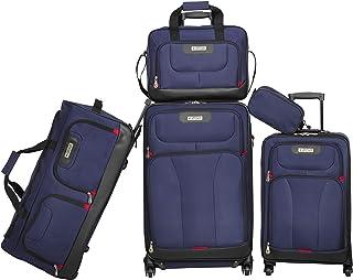 حقيبة سفر سوفت سايد سبينر من أميريكان إكسبلورر - مجموعة من 5 قطع