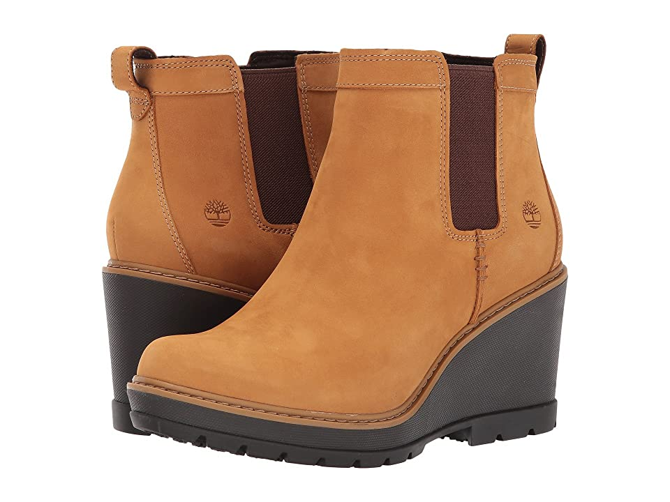 Timberland Kellis Double Gore Chelsea Boot (Wheat Nubuck) Women